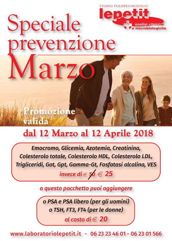 Prevenzione marzo 2018